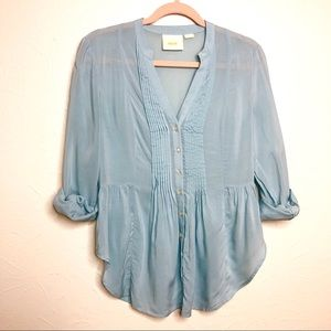 Maeve Anthropologie Button Down Blouse-EUC